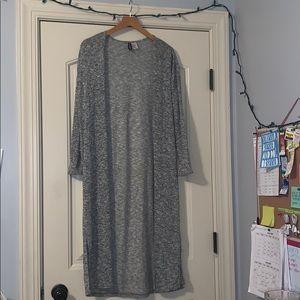 Divided Full Length Grey Cardigan